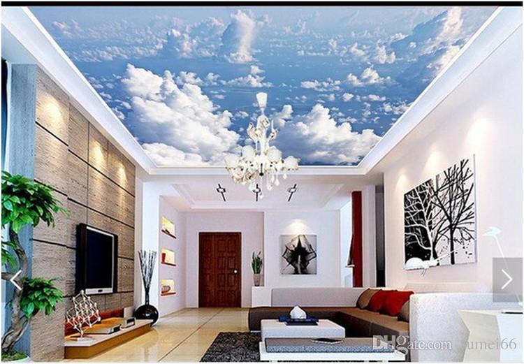 3d photo wallpaper 3d ceiling wall murals wallpaper blue sky clouds rh dhgate com