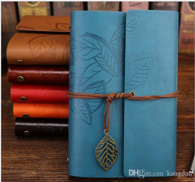 Avrupa yaratıcı dizüstü okul ofis tedarik not defteri kağıt vintage kraft kağıtları yazma Bloknotlar klasik notebooklar Gevşek yapraklı kitap