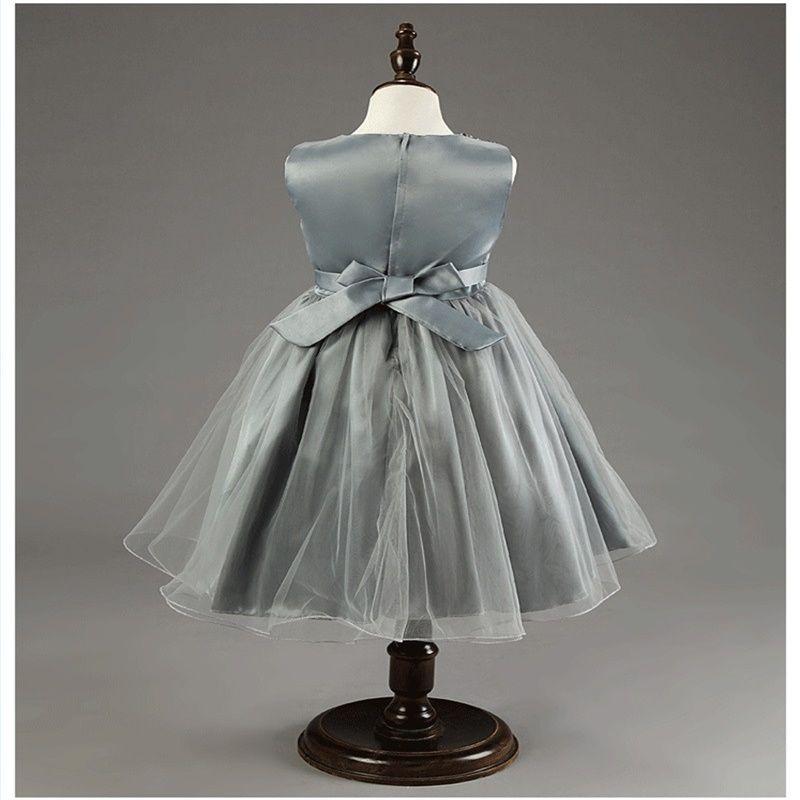 Nouvelle arrivée des robes de demoiselle d'honneur avec des écharpes Communion Party Pageant robe pour petites filles enfants / enfants s'habillent pour le mariage