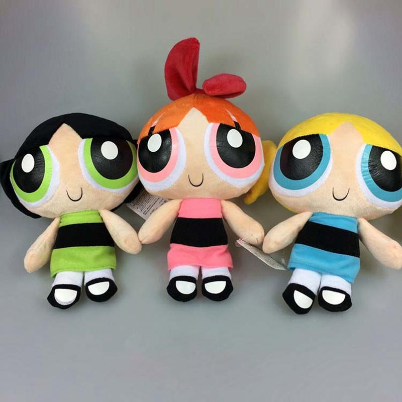 My Puffed Self As Toy Chica: 2018 Wholesale 20cm The Powerpuff Girls Plush Doll Bubbles