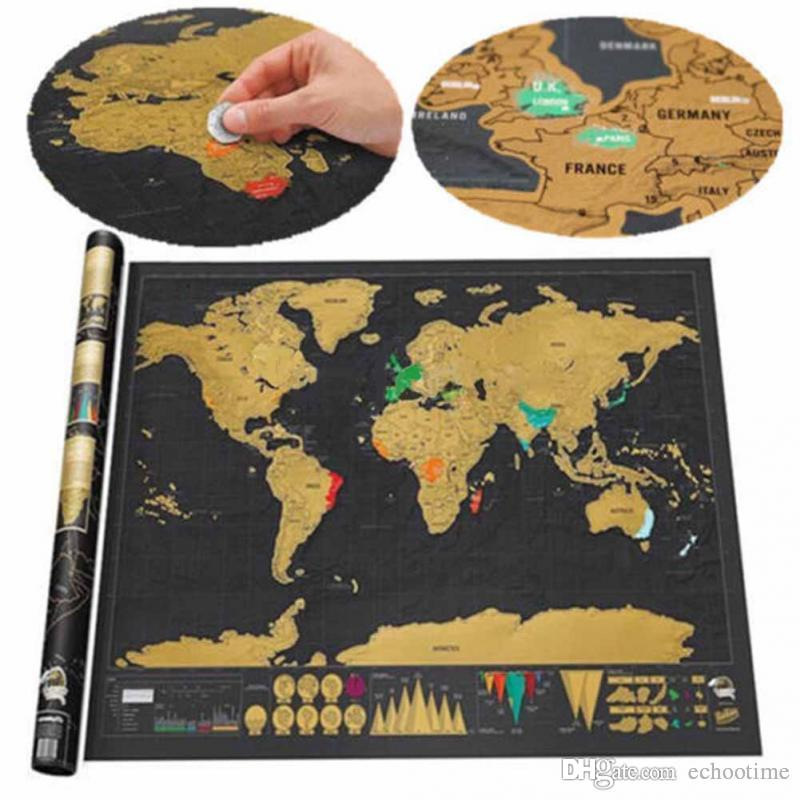 Africa Map Somalia%0A Deluxe Scratch World Map     x    cm Black Background Foil Packed With  Delicate Cylinder Packaging Creative Diy Gift Education Learning Toys Wall  Art Wall
