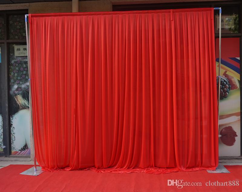 3M * 3M خلفية بيضاء ستارة خلفية حفل زفاف الستارة مرحلة الستار backcloth ل 3 * 6M