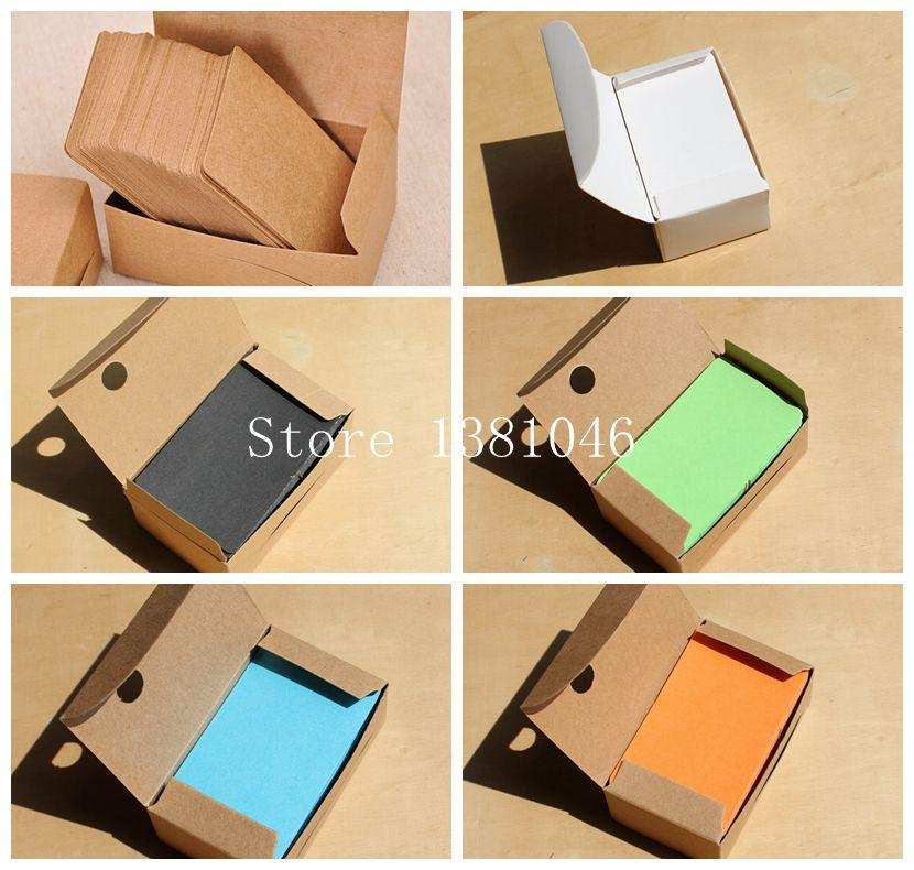 2018 Wholesale 100 Sheets Plain Color Chipboard Business Card Tags ...