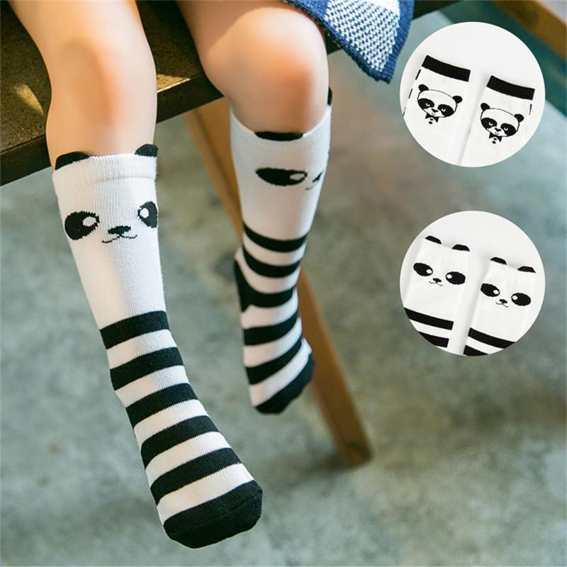 0ef1cf1c5 2019 Wholesale Baby Kids Toddlers Panda Girls Knee High Socks Tights Leg  Warmer Stockings Hot From Rebecco