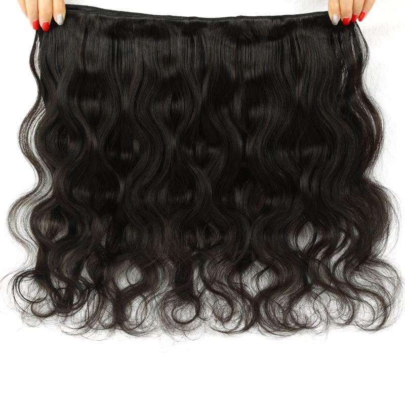 Радуга Королева волос бразильский девственницы волос тела волны природы цвет 100% человеческих волос пучки дешевые бразильские тела волны пучки Бесплатная доставка