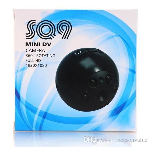 360° Rotatable mini Camera SQ9 1080P Full HD 6 leds Night vision Mini DV Video Recorder car DVR mini camcorder Sports DV