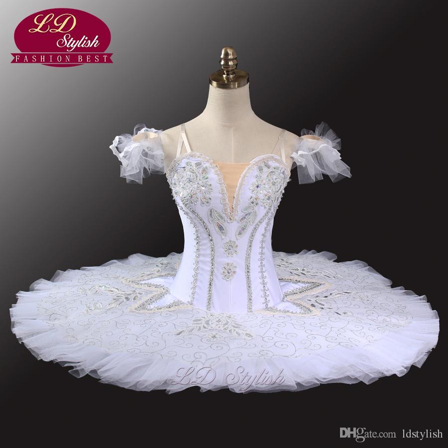 a459f6483 2019 White Swan Lake Professional Tutu Girls Ballerina Costumes Women Platter  Tutu Pancake Ballet Tutu Performance LD0034 From Ldstylish, $195.98 |  DHgate.