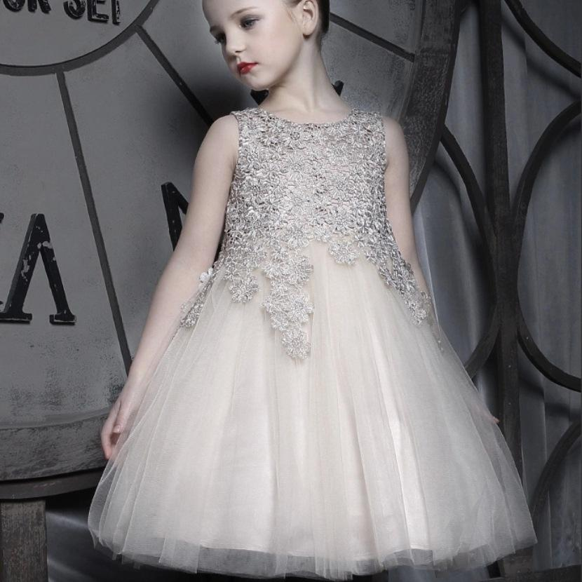 Best Beautiful Kids Formal Lace Baby Girl Dress Children Princess