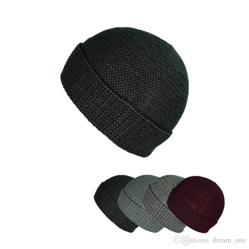New high quality knitted hat warm hat ear protection Windproof Simple and elegant women men 's neutral S003