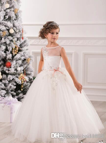 58c1039dd48c Hot Sale Custom Made White/Ivory Baby Frocks Ball Gown Wedding Party First  Communion Dresses Flower Girl Dresses Online with $110.18/Piece on  Baisumei's ...