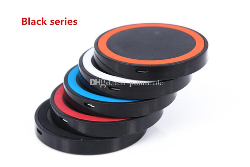 Newest Qi Wireless Charger Cell phone Mini Charge Pad Qi-abled device for Samsung apple nokia htc LG S6 6 plus 5s ect