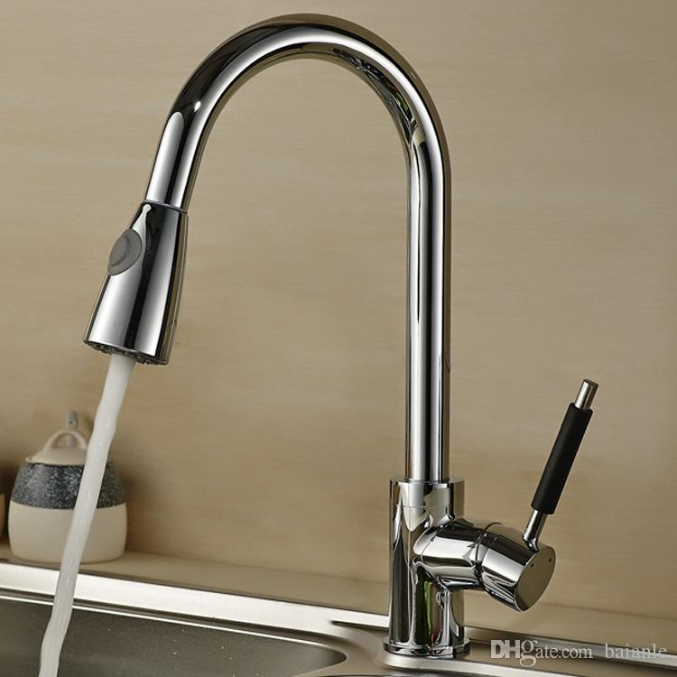 2018 Single Handle Pull Out Spray Kitchen Faucet Mixer Tap,Pullout ...
