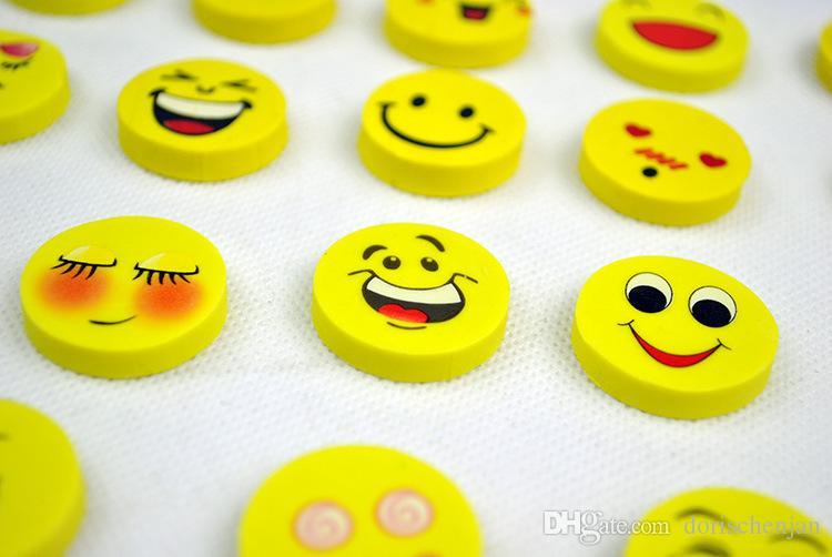 eraser pencil rubber School cartoon eraser study tool supplies office stationery cute Smiling face eraser Wholesale