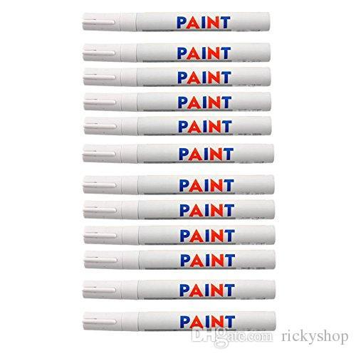 12шт Белый водонепроницаемый постоянный автомобиль шин Tire протектора краска маркер ручка шин Pen
