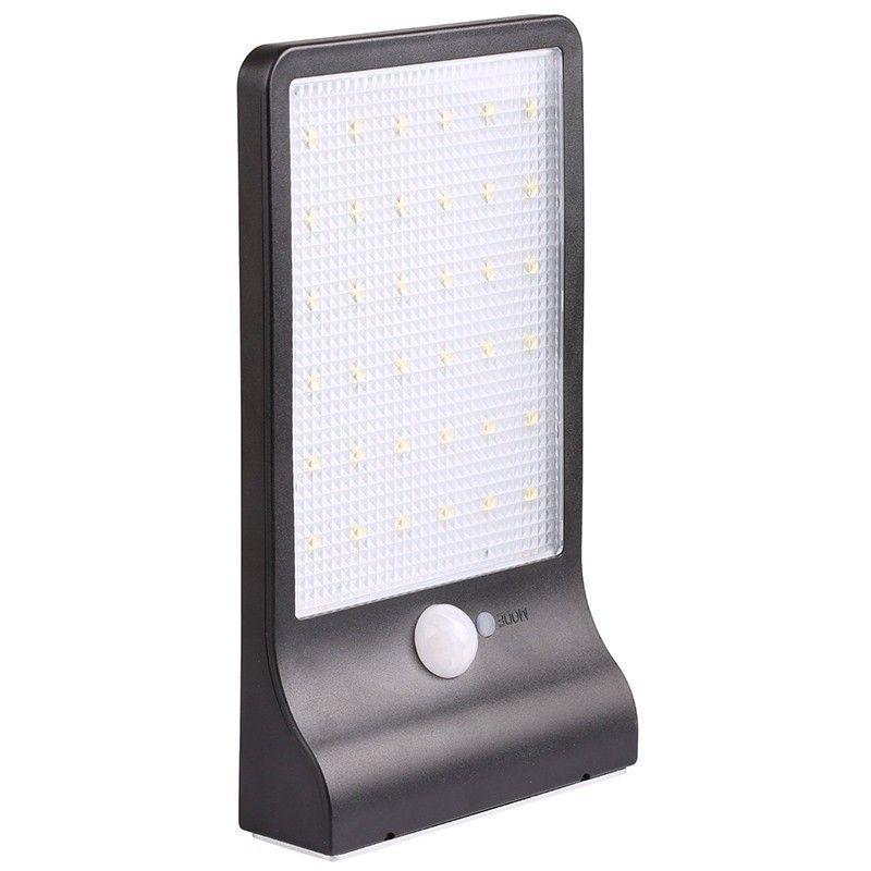 Umlight1688 450LM 36 LED Solar-Straßenleuchte PIR Bewegungs-Sensor-Licht-Garten-Sicherheits-Lampe Outdoor Street Wasserdichte Wandleuchten