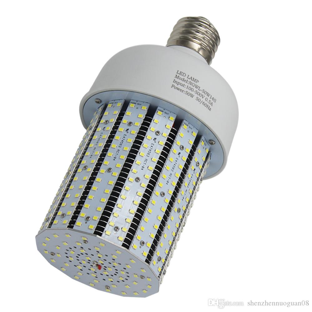 50watt 480v Led Corn Cob Bulb 175w Mercury Vapor Light Replacement 6000k  Daylight E39 Retrofit High Bay Parking Street Fixture 277 480vac G4 Led Bulb  Led ...