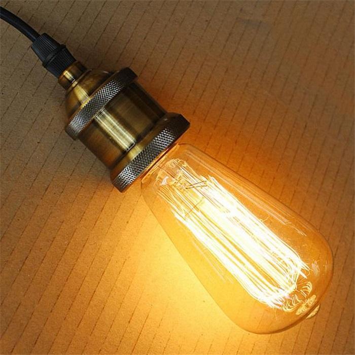 110-120V أو 220-240 فولت ST64 السنجاب خمر 40 واط E27 المتوهج إديسون ضوء لمبة الألعاب النارية الكربون خيوط العتيقة أضواء مصباح المصابيح