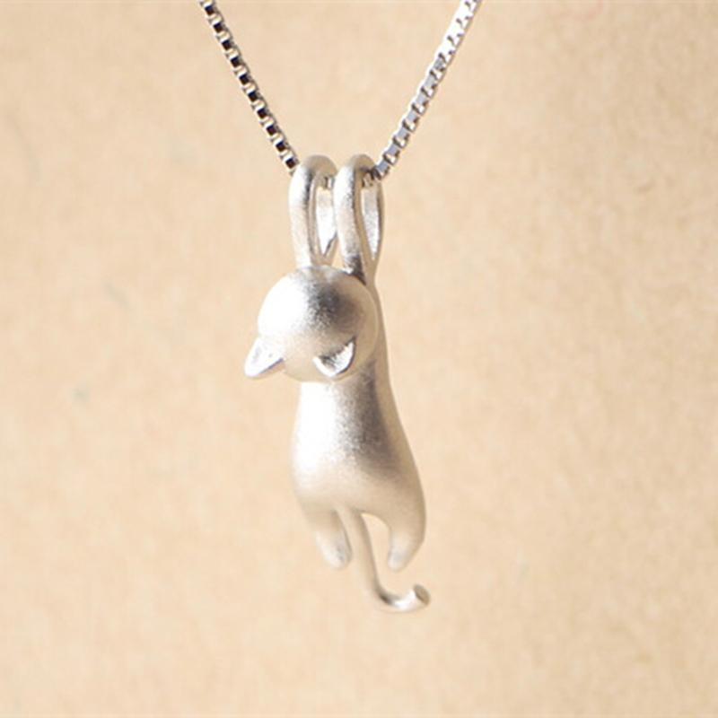 Wholesale wholesale sweet kitty pendant necklace chain simple wholesale wholesale sweet kitty pendant necklace chain simple silver cat pendant necklace lovely animal collares for women locket necklace mens necklaces aloadofball Choice Image