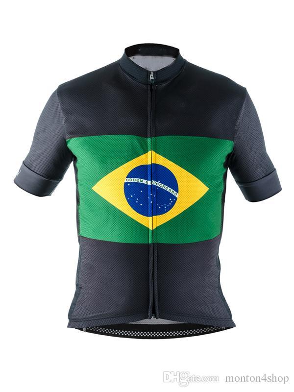 Brazil Team Mens Ropa Ciclismo Cycling Clothing MTB Bike Clothing ... 1c2a4e991