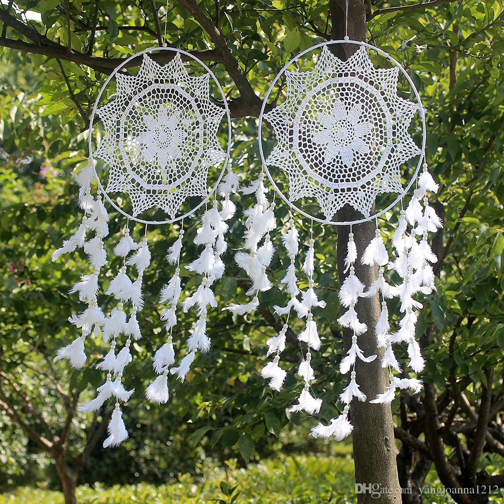 Factory Wholesale Handmade Large Macrame Dream Catcher Hanging Home Decoration Creative dromenvanger Wall Hanging Nordic Wind Chimes Style
