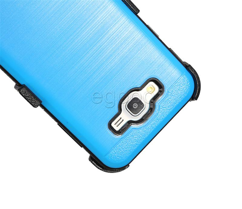 Brushed Dual Layered Defender Armor Case With Belt Clip Screen Film For Sumsung G530H 5308W 5306W G550 ON5 Moto G4 G5 G5S Plus Z2 Play Force