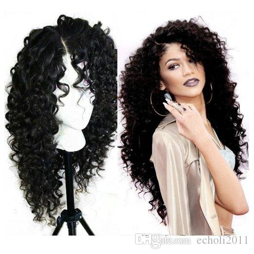 360 Lace Frontal Wig 250% high density Lace Front Human Hair 360 Lace Wig Deep Curly Full Human Hair Wigs For Black Women