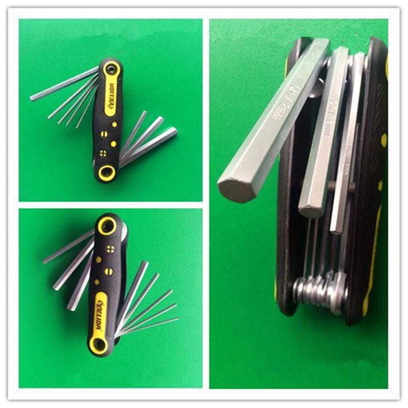 Chiave angolare pieghevole Chiave esagonale esagonale esagonale Torx Kit attrezzi chiave a brugola