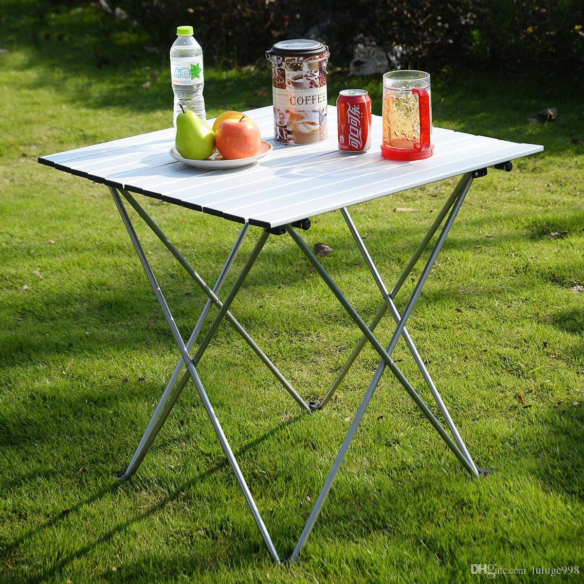 aluminum roll up table folding camping outdoor indoor picnic w bag rh dhgate com