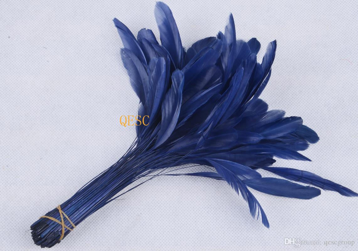 Pluma de color azul pálido del 14-19 CM para cóctel sinamay fascinator / sinamay hat / wedding accessories.