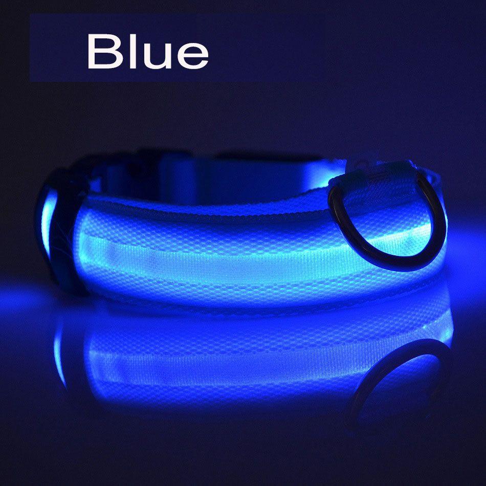 DHL LED Nylon Haustier Hundehalsband Nacht Sicherheit LED-Licht blinkend im Dunkeln leuchten Kleine Hundeleine Hundehalsband Flashing Safety Collars