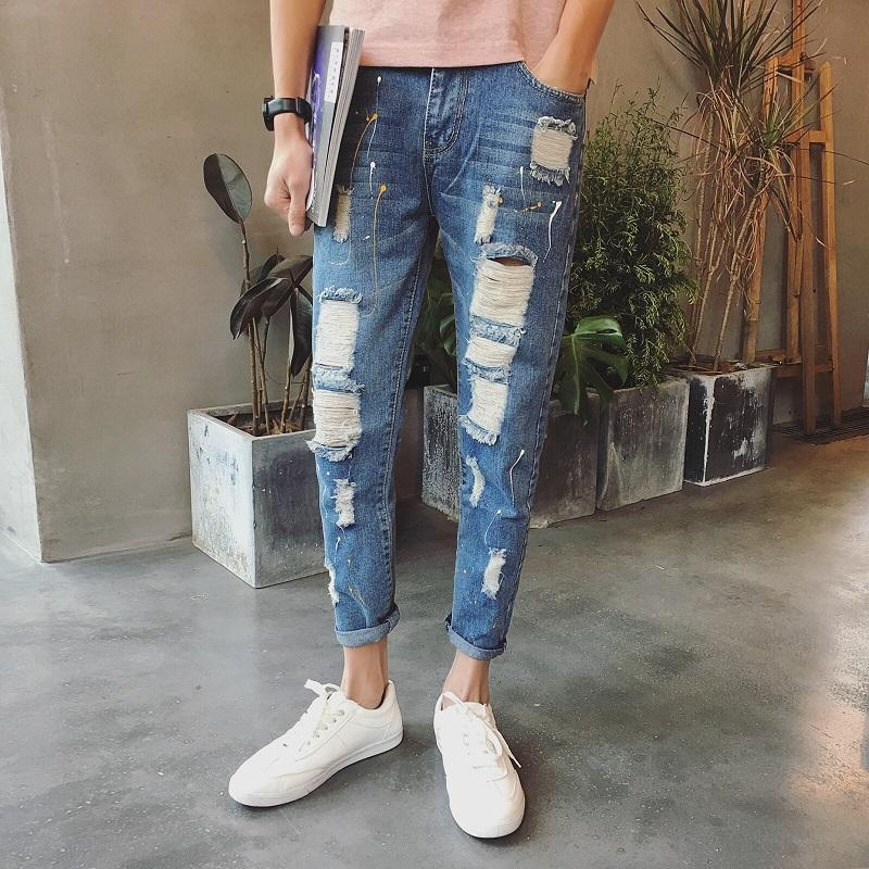 8cd96f140b8 2019 Wholesale Jeans Men Patchwork Designer Brands High Quality Patched  Jeans Ripped Men Rock Men Jeans Hip Hop Jeans Robins Denim Pants From  Michalle