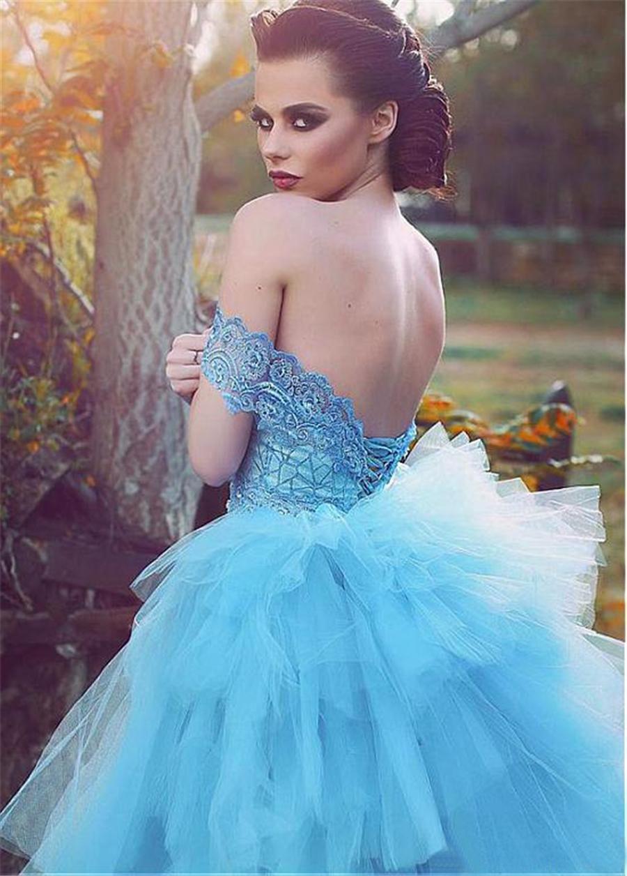 Merveilleuse gaine / colonne dentelle appliqued robes de soirée sweetheart hors l'épaule avec jupe à volants détachable
