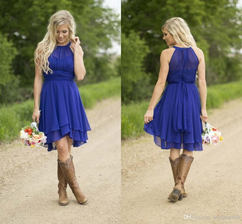 Royal blue short bridesmaid dresses 2017 simple knee length silver royal blue short bridesmaid dresses 2017 simple knee length silver navy junior bridesmaid gowns plus size country party dresses pink bridesmaids dresses ombrellifo Image collections