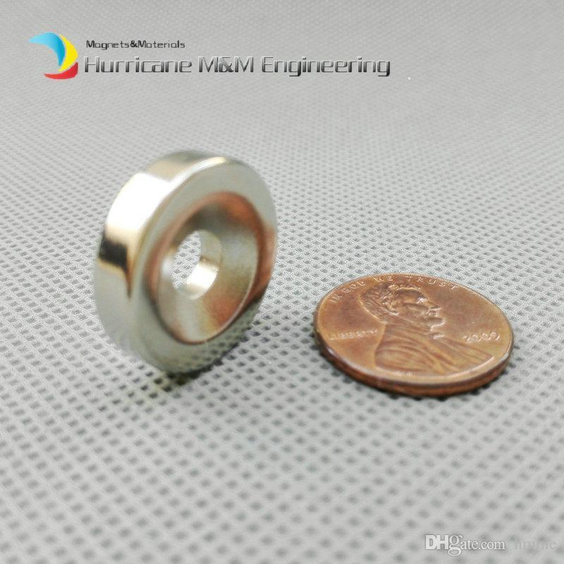 48шт. Потайной магнит с отверстиями диаметром 20x5 мм, винт M5, Потайной отверстием, неодимовый, редкоземельный, постоянный магнит