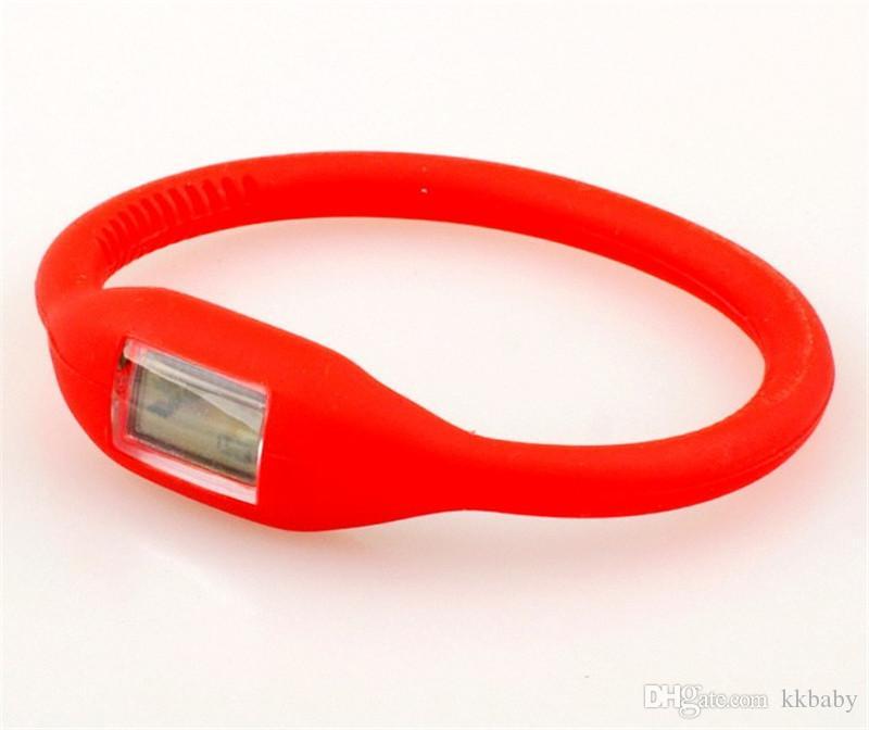 Neue Frauen Männer Anion Gesundheit Uhren Mädchen Jungen Sport Negative Ionen Silikon LED Armband Sport Digital LED Uhren Armbanduhren
