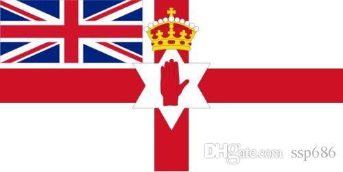 Impero Britannico bandiera Irlanda del Nord 1953-1972 irlandese mano Red Flag 3ft x 5ft poliestere bandiera di volo 150 * 90cm bandierina su ordinazione