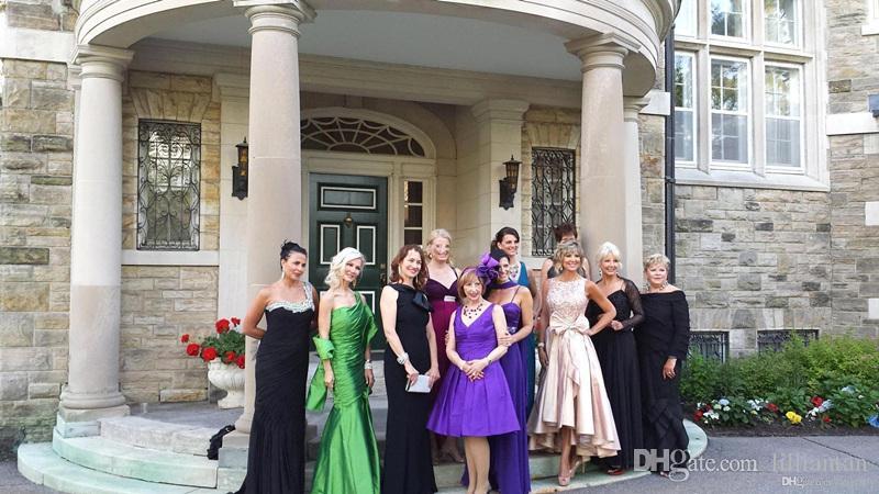 Haute Basse mère de la mariée robes formelle mère mariée robes de mariée pour la robe de soirée de mariage robes de soirée en cristal occasion robe