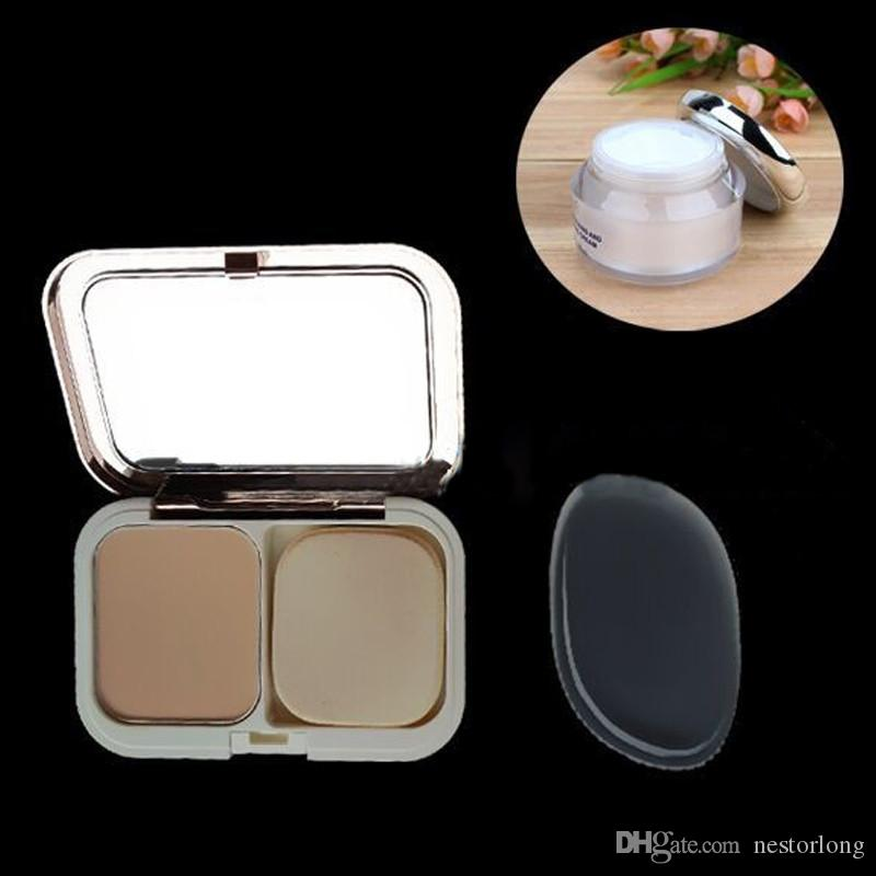 hot Clear Powder Puff Transparent Silicone Face Foundation Tool Sponge Blender Silicone Powder Puff BB cream foundation makeup tools