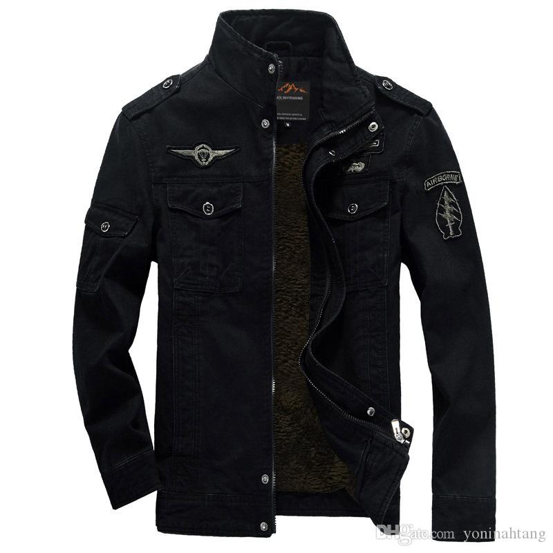 Wholesale Men Military Army jackets plus size 6XL Brand Hot cost outerwear embroidery mens jacket for aeronautica militar