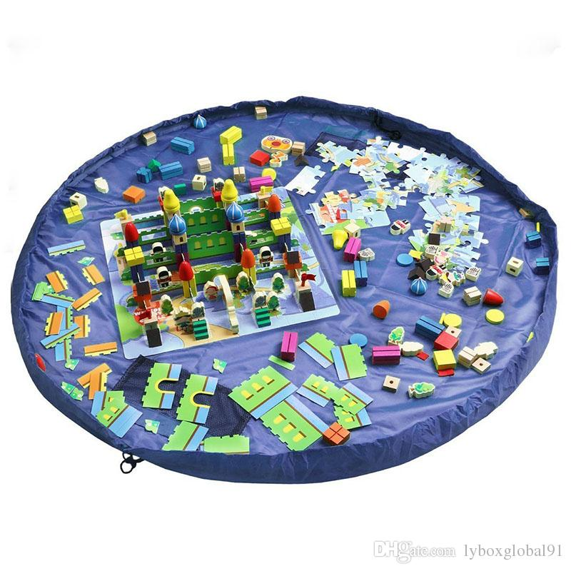Children Play Mat Toys Storage Bag Floor Activity Mat Kids Toys Organizers Bags 150cm 60inch Bule For Home Outdoor Wholesale Cheap