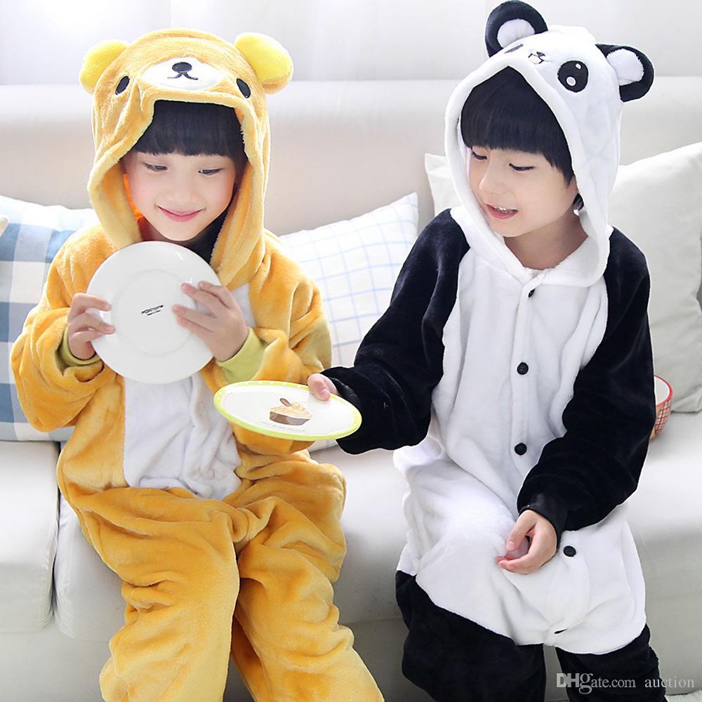18bf0c8c6f06c Acheter Unisexe Enfants Animal Kigurumi Pyjama Cosplay Costumes Vêtements  De Nuit Jumpsuit Chaussures Pattes Pandas Adorable Panda De  28.04 Du  Auction ...