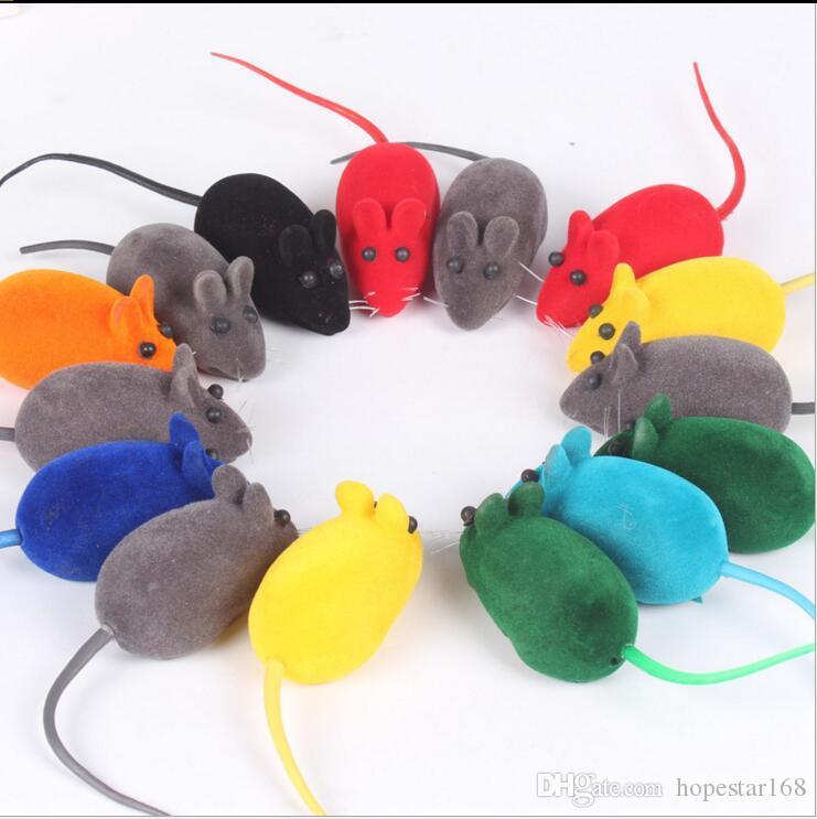 6 * 3 * 2.5 سنتيمتر الفأر الصغير لعب جديد الضوضاء صوت صرير الجرذ لعب هدية للقطط هريرة لعب القط لعب اللوازم