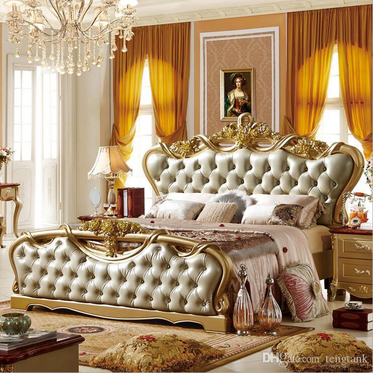 Modern European Elegant Noble Style King Size Round Bed Price Traveling Beds