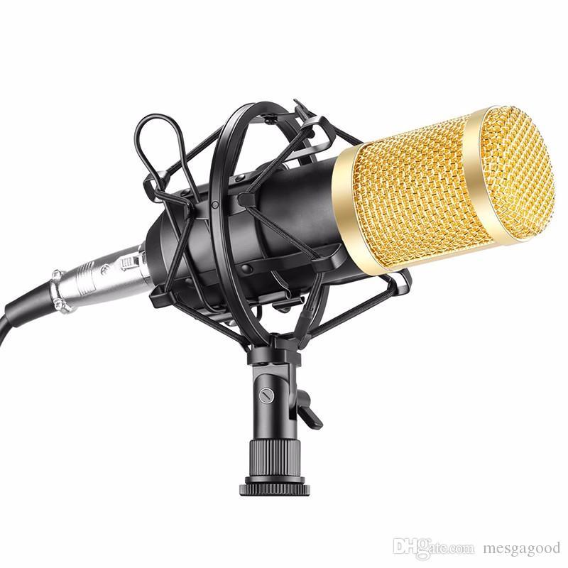 Commercio all'ingrosso di New BM-800 microfono a condensatore di registrazione del suono Microfone Con Shock Mount Radio Braodcasting microfono PC desktop BM800