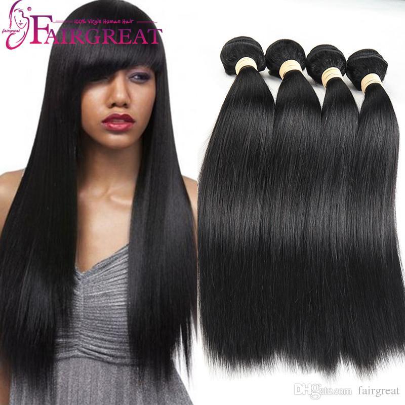 Peruvian Straight Human Hair Bundles Uprocessed Peruvian Straight