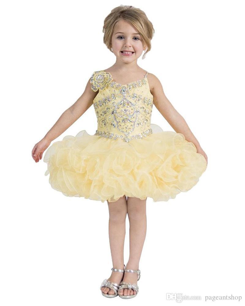 Großhandel Nationale Mädchen Gelbe Festzug Kleine Kuchen Kleider ...