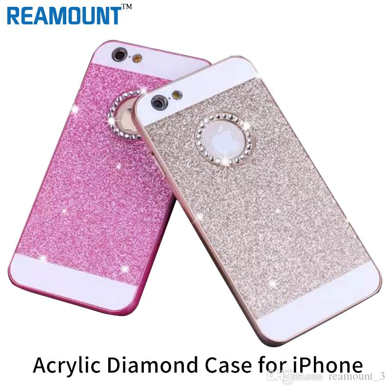 200pcs Luxury Women Girl Glitter shining hard PC Diamond Case for Apple iphone  5s 5 5se 6s 6plus 6s plus Cover Mobile Phone 65588f3097
