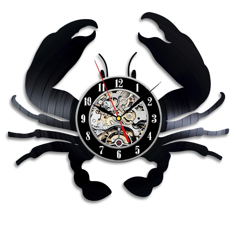 Limited Real Quartz Analog Crab Gift Wall Clock Vinyl Record Art Decor Vintage  Kitchen Clocks Retro Clocks Retro Kitchen Wall Clock From Bighappyfamily,  ...