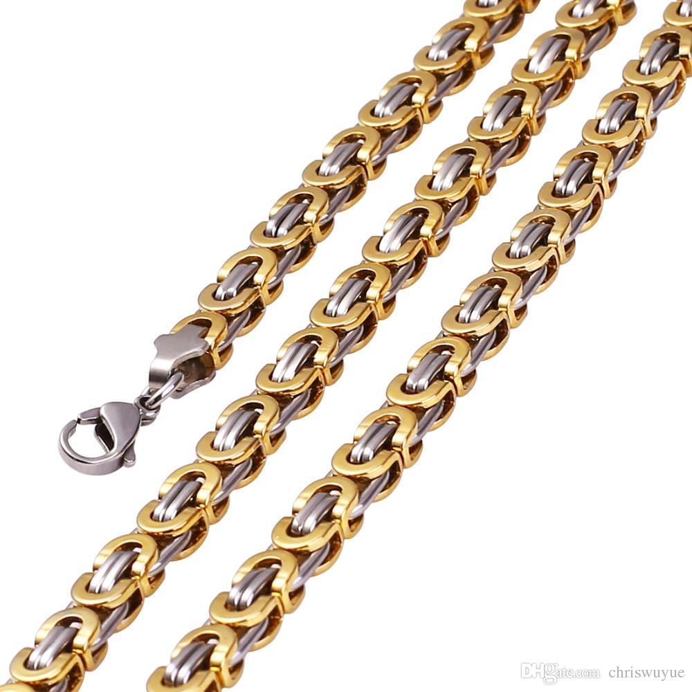 Mode Geschenk Große und Schwere Vergoldete Jesus Kreuz Anhänger Halskette Mode männer Schmuck Edelstahl Kruzifix Halskette NP30
