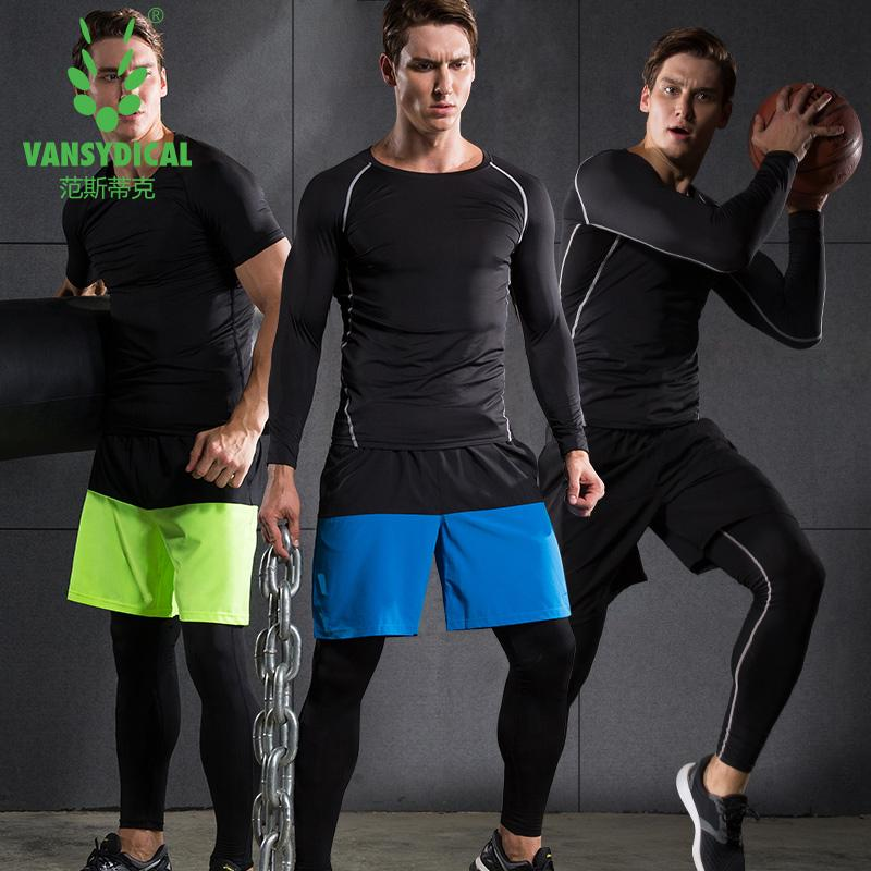 2b93b4748d6de 2019 Vansydical Sports Suits Men Gym Tights Basketball Jersey Quick Dry  Compression Clothing Coach Wear Compression Running Sets From  Newcharmjersey, ...